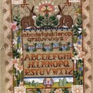 RARE ROSSI LINEN CROSS STITCH SAMPLER KIT  SPRING BUNNY GARDEN