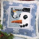 Rare Snowman and Bird Pal Needlepoint Pillow Kit Shane Dimmick