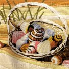RARE REINARDY SEASHORE LONGSTITCH NEEDLEPOINT KIT SHELL BASKET