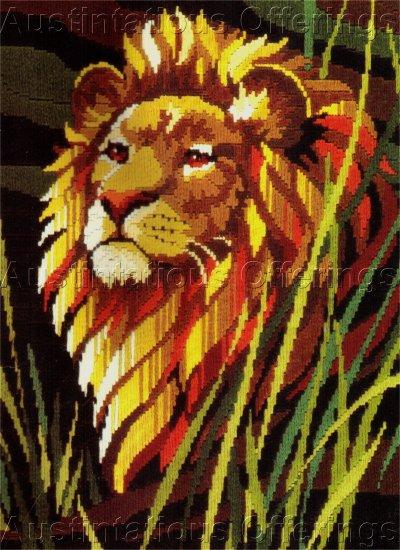RARE REINARDY LION LONGSTITCH NEEDLEPOINT KIT