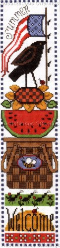 ICONIC SUMMER SAMPLER CROSS STITCH KIT WATERMELON SUNFLOWERS