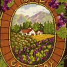RARE GERRISH WINE COUNTRY NEEDLEPOINT KIT NAPA VALLEY INTEREST