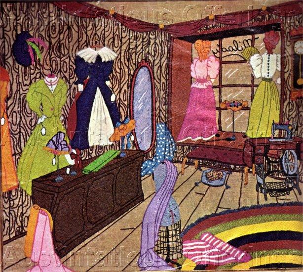 RARE VICTORIAN DRESSES CREWEL EMBROIDERY KIT NOSTALGIC DRESS BOUTIQUE
