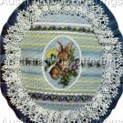 RARE BUNNY CROSS STITCH PULLED THREAD PETIT POINT NEEDLEPOINT KIT