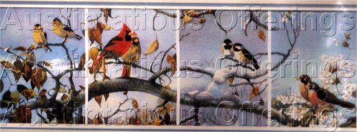 RARE MARIO FERNANDEZ WILDLIFE CREWEL EMBROIDERY KIT FOUR SEASONS BIRDS