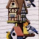 RARE BIRD HOUSE NEIGHBORHOOD NEEDLEPOINT LONGSTITCH KIT REINARDY
