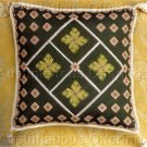 RARE ENGLISH JACOBEAN DIAMOND FLORAL MINATURE PILLOW CROSS STITCH KIT