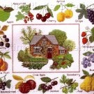 RARE RED BRICK COTTAGE CROSSSTITCH SAMPLER KIT FRUIT ORCHARD