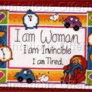 KATHY DAVIS WHIMSICAL CROSS STITCH SAMPLER KIT I AM WOMAN