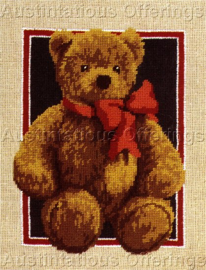 RARE REINARDY PORTRAIT STEIFF TEDDY BEAR NEEDLEPOINT KIT