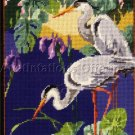 NANCY ROSSI WHITE EGRET POND NEEDLEPOINT KIT TRANQUIL CRANES KIT