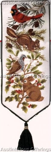 RARE WOODLAND CREATURES CHRISTMAS CREWEL EMBROIDERY KIT