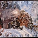 RARE ELSA WILLIAMS WINTER STEAM TRAIN NEEDLEPOINT TED BLAYLOCK GUNNISON RUN