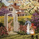 RARE SLOANE MOTHER CHILD GARDEN STROLL NEEDLEPOINT KIT SPRING FARM HOUSE