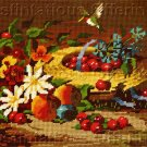 RARE RIENSTRA NOSTALGIC BONNET AND FRUIT STILL LIFE NEEDLEPOINT KIT