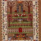 RARE SANDRA GILPIN LINEN HEIRLOOM GARDEN CROSS STITCH SAMPLER KIT KIND THOUGHTS DEEDS
