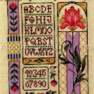 RARE JOAN MARCHIE ART DECO LINEN CROSS STITCH SAMPLER KIT WILLIAMS AVALON IRIS FLORAL