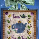 LILLIEBRIDGE CROSS STITCH CRAFT KIT TEA TIME TREASURES BUTTONS BEADS