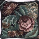 RARE POLITE TO POINT ROSE ROCOCO NEEDLEPOINT PILLOW KIT SCROLLING FLORAL