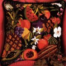 LUSCIOUS SUMMER FRUITS WOOL NEEDLEPOINT PILLOW KIT TROPICAL VEGETABLES AVOCADO PINEAPPLE & MORE