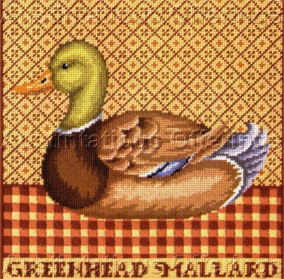 LECLAIR  FOLK ART  DUCK DECOY NEEDLEPOINT KIT GREEN HEADED MALLARD