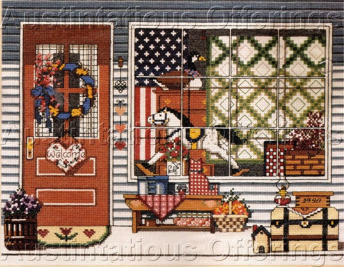 CROSS STITCH KIT ANTIQUE SHOP