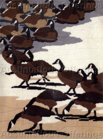 TAYLOR LONGSTITCH NEEDLEPOINT CANADIAN GEESE