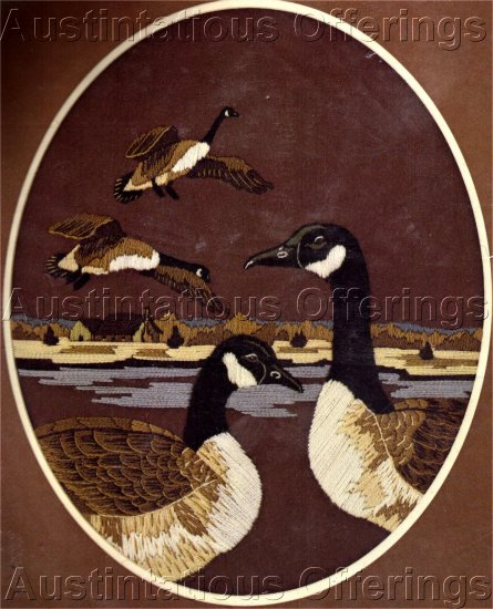 CANADA GEESE LONGSTITCH CREWEL KIT