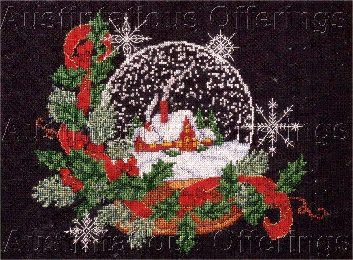 WINTER HOLIDAYS CHRISTMAS SNOWGLOBE CROSS STITCH KIT