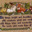 RARE ROSSI LINEN SAMPLER CROSS STITCH KIT GENTLE CREATURES