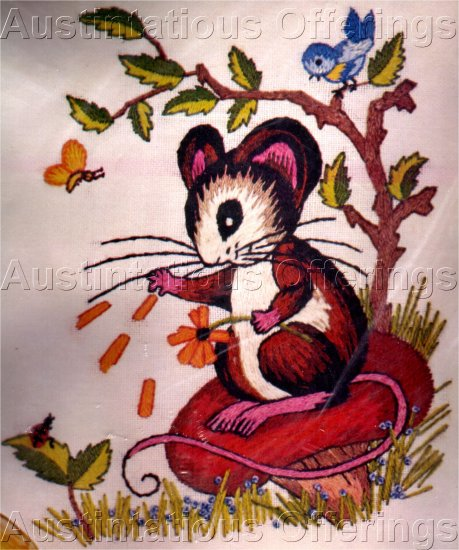 RARE VERES FAIRY TALE CREWEL EMBROIDERY KIT MR MOUSE