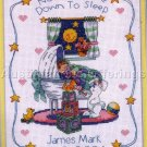 RARE CHILD IN BASSINET CROSS STITCH KIT BABY NIGHTTIME PRAYERS BIRTH RECORD