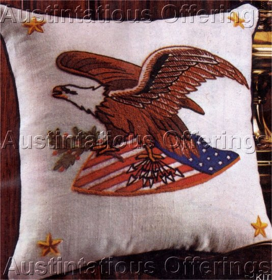 AMERICAN EAGLE PILLOW CREWEL EMBROIDERY KIT