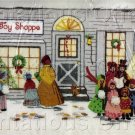 RARE VICTORIAN OLD FASHIONED TOY SHOPPE CHRISTMAS CREWEL EMBROIDERY KIT