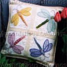 BARRANI DRAGONFLIES CREWEL EMBROIDERY SAMPLER PILLOW KIT