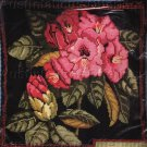 RARE BAATZ FLORAL NEEDLEPOINT PILLOW KIT ROSE PINK RHODODENDRON