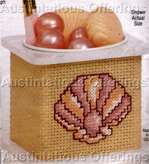 CROSS STICH KIT SEASHELL CONTAINER