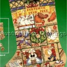 RARE LINEN CROSS STITCH STOCKING KIT 12 DAYS XMAS CHRISTMAS