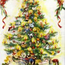 RARE GERRISH HOLIDAY TREE CREWEL EMBROIDERY KIT CHRISTMAS SPLENDOR