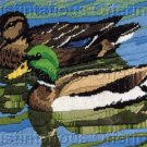RARE REINARDY WATER FOWL LONGSTITCH NEEDLEPOINT KIT MALLARD DUCK PAIR