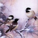 RARE LENA LIU WINTER CHICKADEES CREWEL EMBROIDERY KIT ELSA WILLIAMS