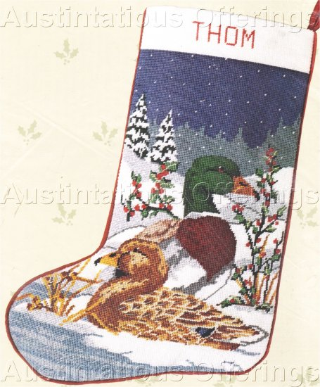 RARE WINTERING MALLARDS NEEDLEPOINT CHRISTMAS STOCKING KIT MALLARD DUCK PAIR