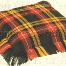 SCOTTISH CLAN LUXURIOUS WORSTED WOOLS COUNTED NEEDLEPOINT PILLOW KIT FAMILY BUCHANAN TARTAN