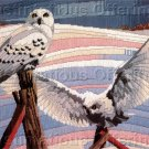 RARE REINARDY SNOWY BIRDS OF PREY LONGSTITCH NEEDLEPOINT KIT WINTER OWLS