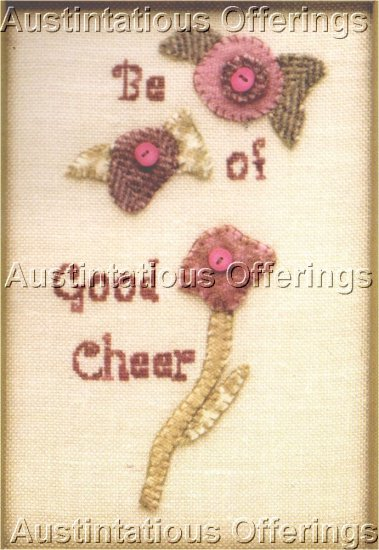 WOOLIES CHARMING  PRIM STYLE WOOL FELT APPLIQUE EMBROIDERY  & CROSS STITCH KIT  TWISTED THREADS