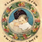 RARE JESSIE WILLCOX SMITH CREWEL EMBROIDERY KIT TO BE A CHILD