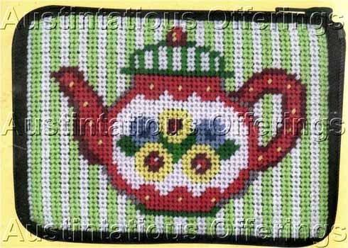 TEAPOT COIN PURSE NEEDLEPOINT KIT CUP OF TEA
