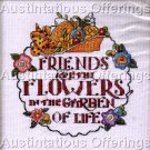 FRIENDS CROSS STITCH KIT MESSAGE FRIENDSHIP SAMPLER