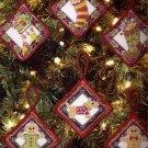 Mary Englebreit Cross Stitch Christmas Ornaments Set Cross Stitch Kit