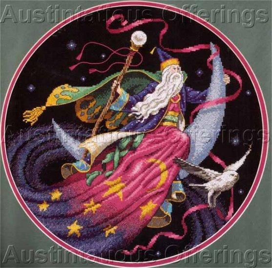 Fantasy Art James Himsworth Wizard Cross stitch Kit Mystical Magic Owl